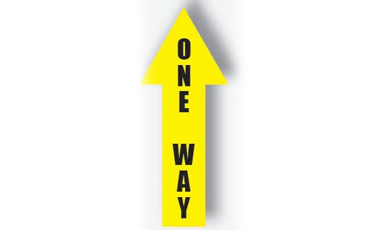 "Arrow Sign ""One Way"""