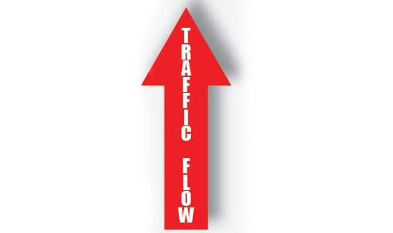 "Arrow Signs ""Traffic Flow"""