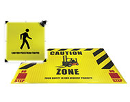 Interactive 24'' (60cm) Led Sign & Pressure Logo Mat (2'X3' / 60x90cm) Combo